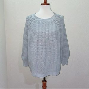 Aerie Gray Balloon Sleeve Sweater Size Medium